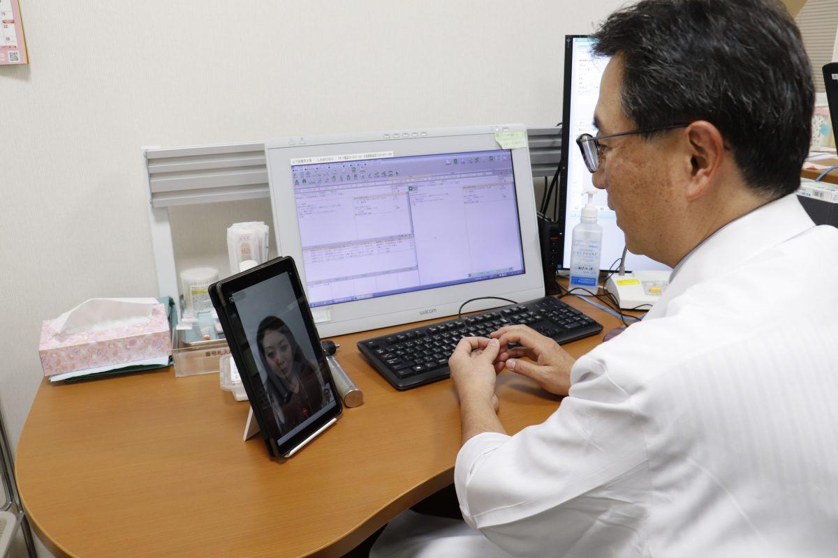 オンライン診療実施風景1